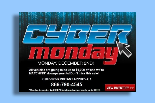 u drive today cyber monday ad