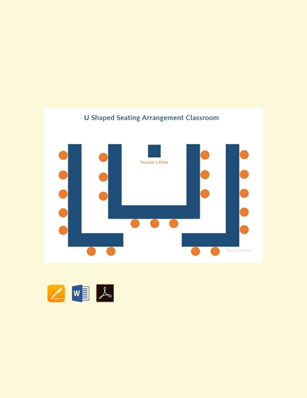 u shaped seating arrangement classroom