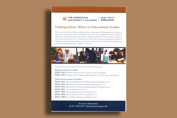 undergraduate educational studies flyer