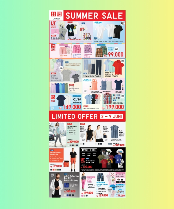 uniqlo big summer sale flyer