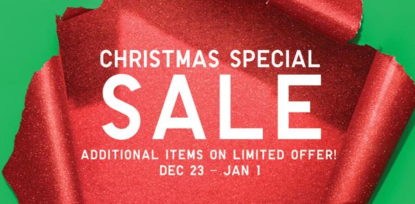 uniqlo christmas special sale flyer