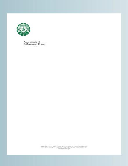 university standard letterhead