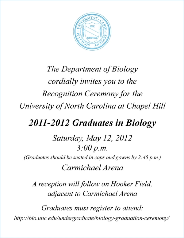 university of north carolina graduation invitation