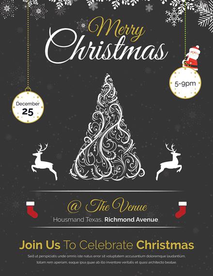 vintage merry christmas flyer