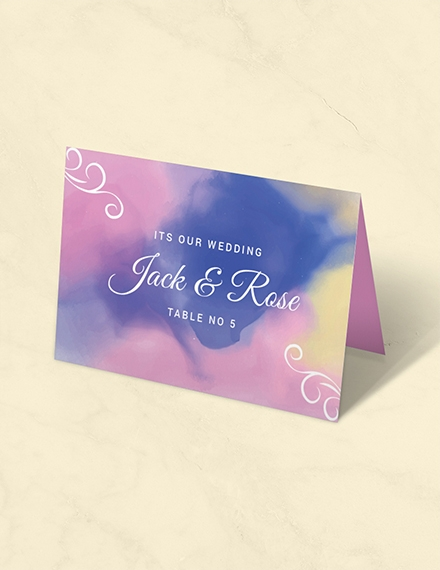 water color place card