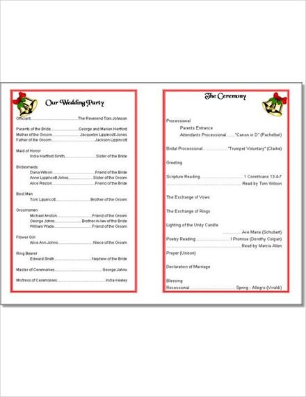 Wedding Bells Program