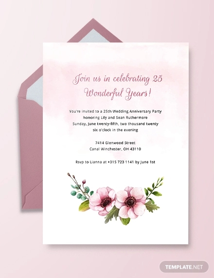 22 Printable Anniversary Invitation Designs And Examples Psd
