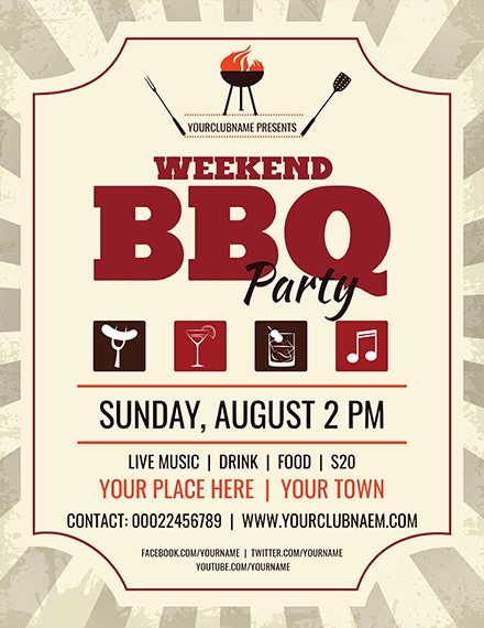 weekend bbq flyer