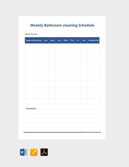 weekly bathroom cleaning schedule