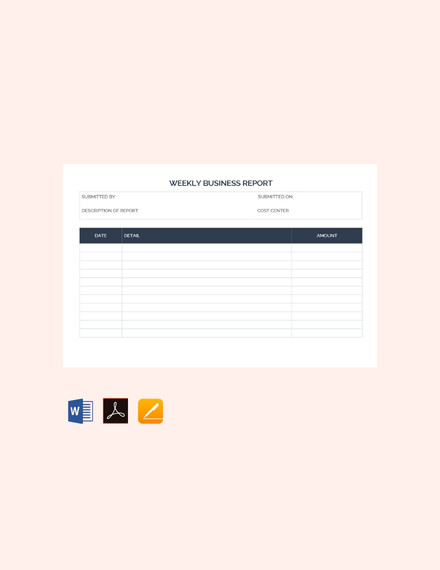 weekly business report template1