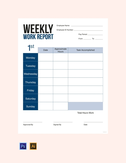 weekly report card template