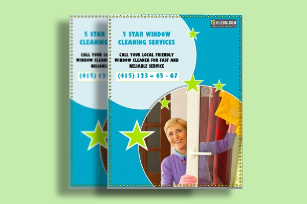 window cleaning services flyer
