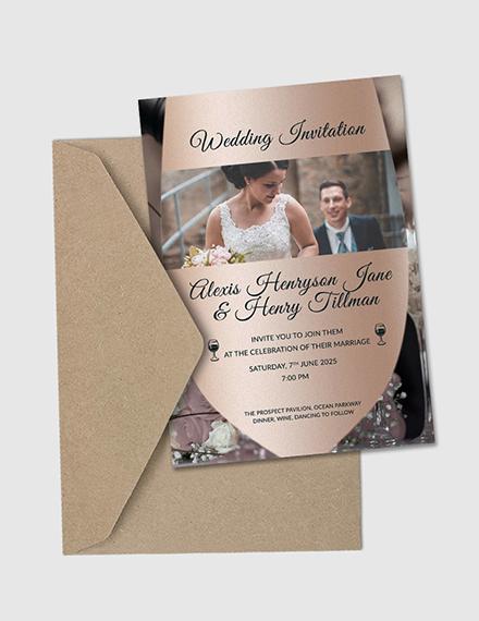 winery wedding invitation card