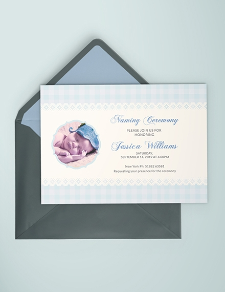 wonderful baby naming ceremony invitation card
