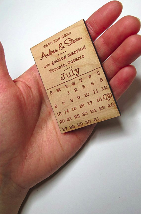 wood save the date invitation