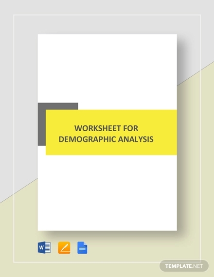 worksheet demographic analysis template