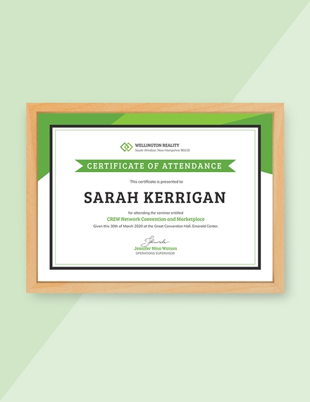 workshop attendance certificate