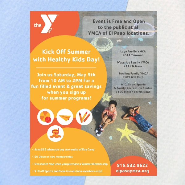 ymca healthy kids day flyer