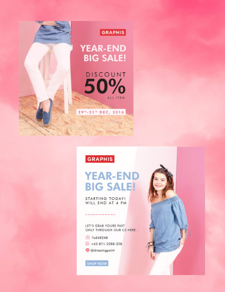 year end big sale flyer