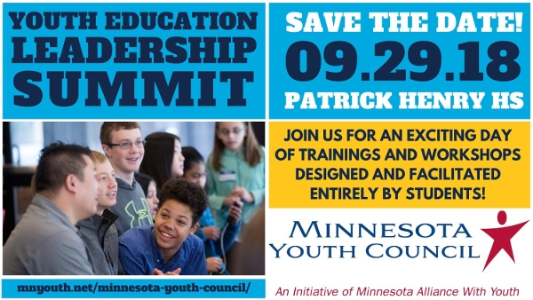 youth education leadership summit save the date