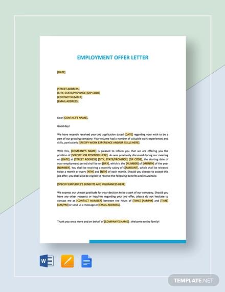 employment offer