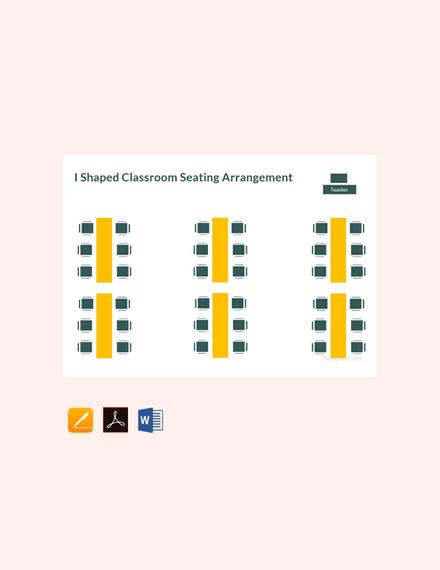 l shaped classroom seating arrangement chart