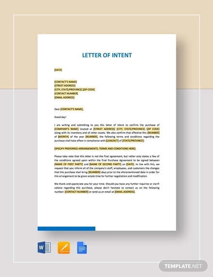Letter Of Intent Template Microsoft Word from images.examples.com