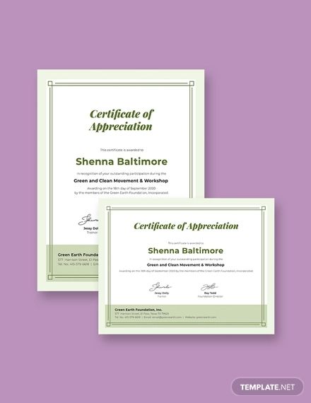 modern participation certificate1