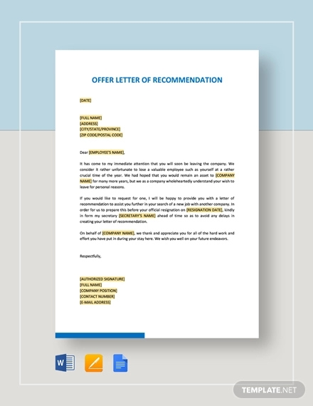 offer letter of recommendation1