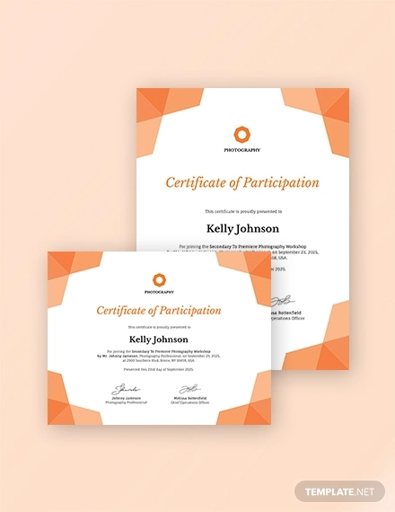 photography participation certificate1