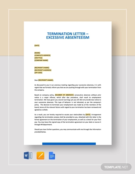 61+ Termination Letter Examples & Samples - PDF, DOC | Examples