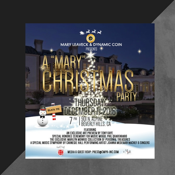 a 22mary22 christmas party invitation