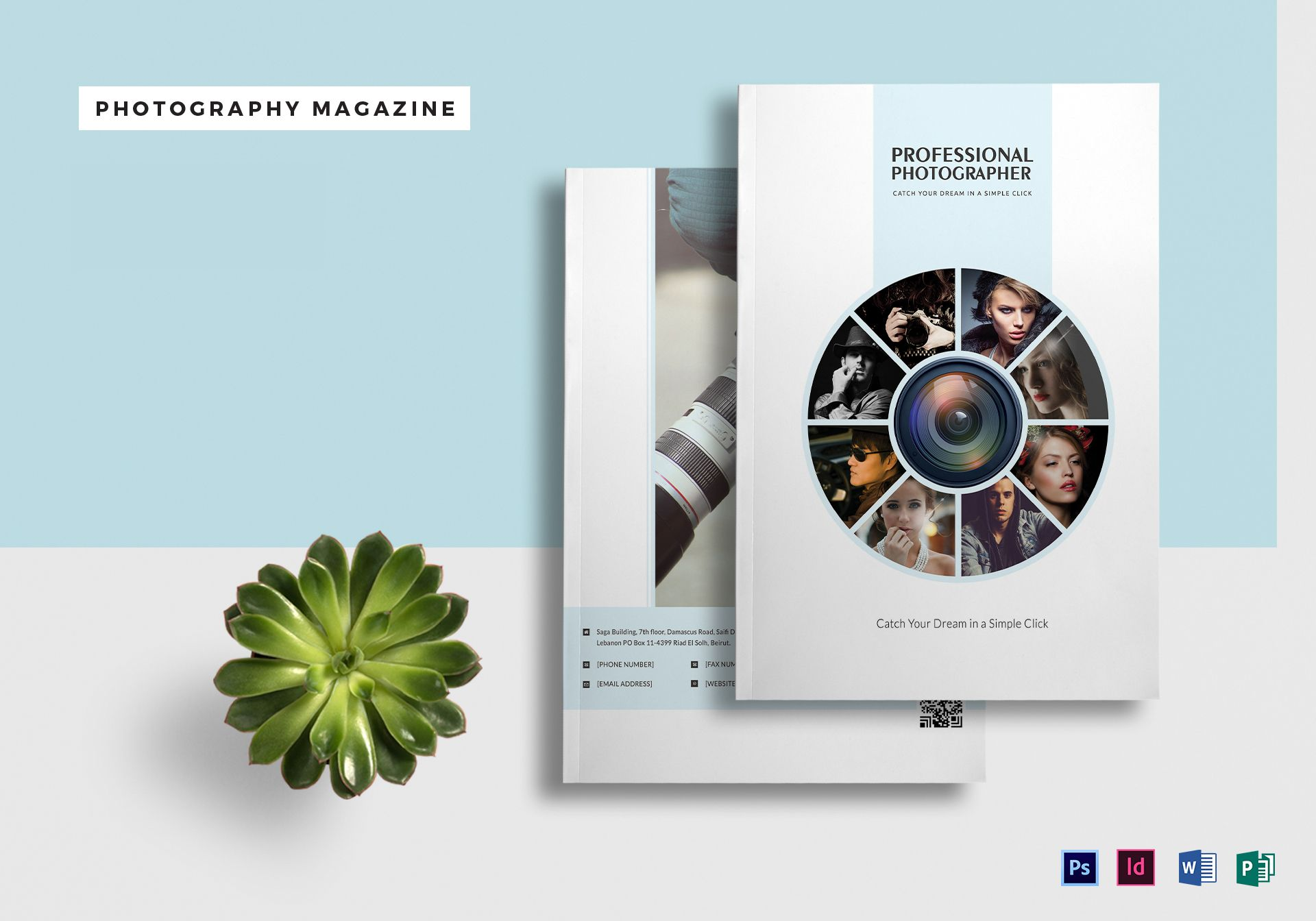 a4 photography magazine template