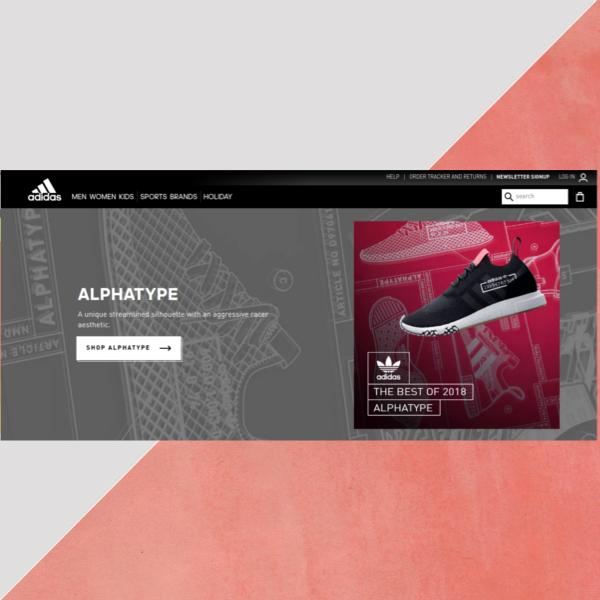 adidas website header