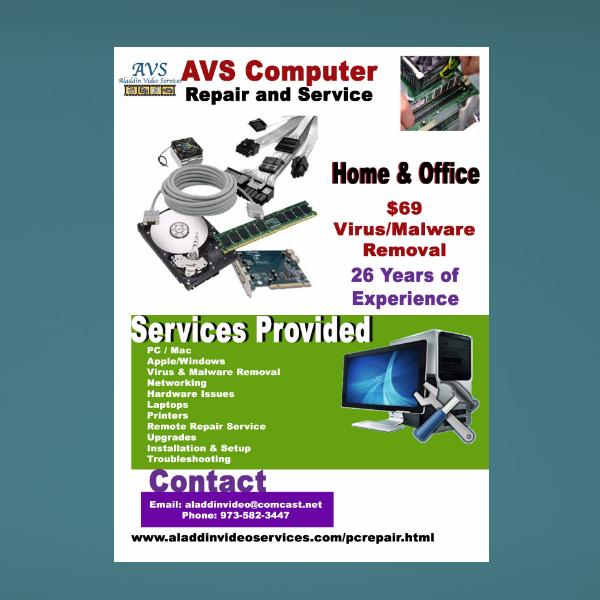 aladdin pc repair services flyer