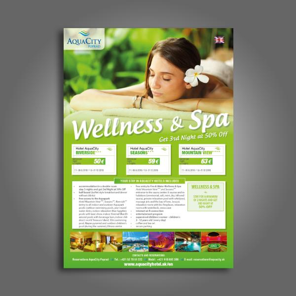 aquacity hotel beauty spa flyer