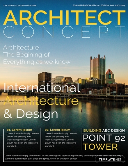 architect magazine cover page