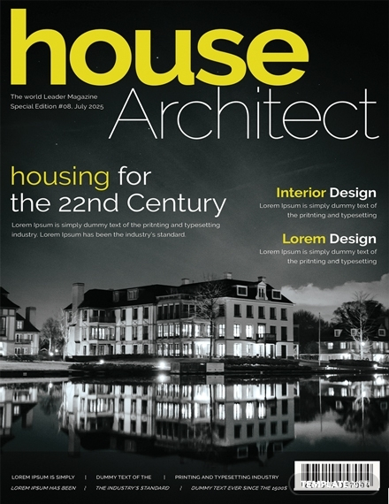 architecture magazine cover page