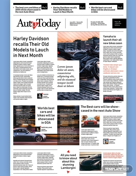 automobile newspaper