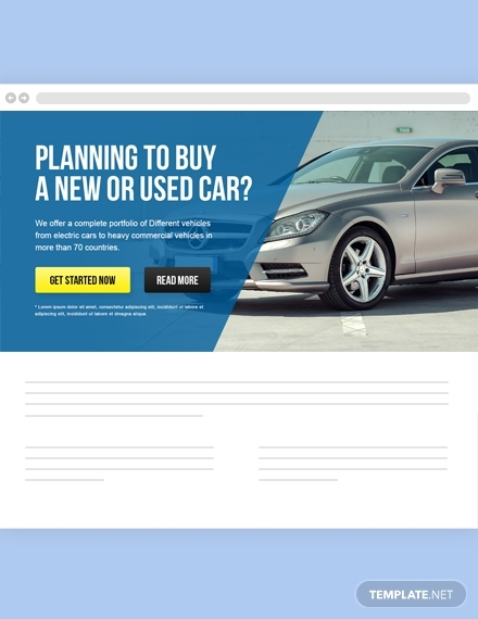 automobile website header