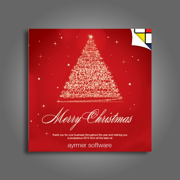 aymer company thank you christmas card