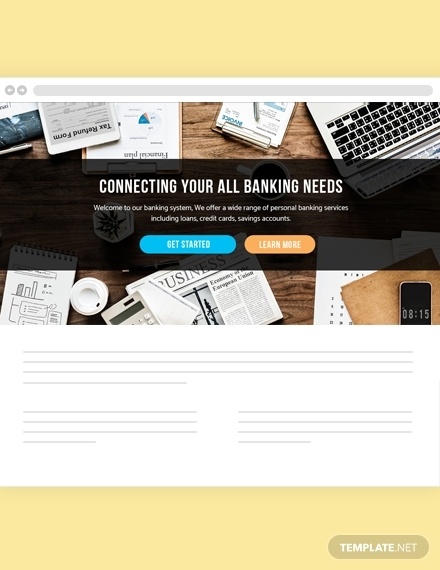 banking website header