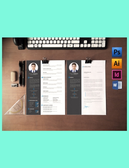 basic creative resume template