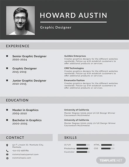 basic resume design