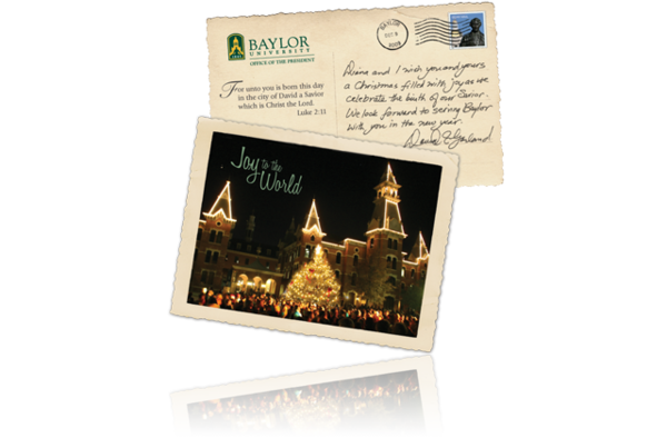 baylor university christmas postcard