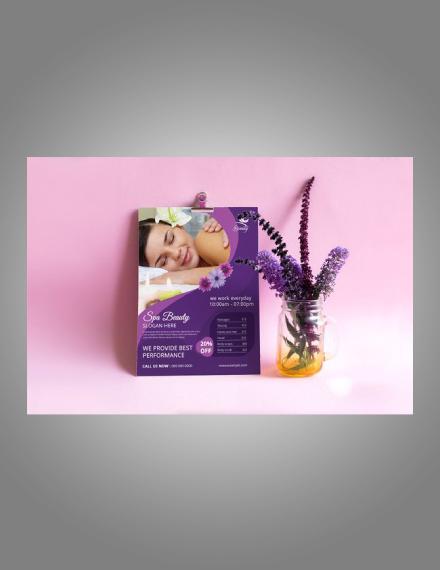 beauty spa care flyer