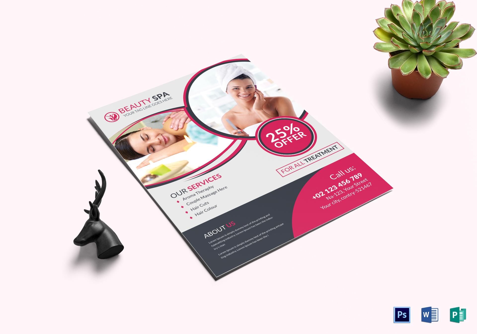 beauty spa salon flyer