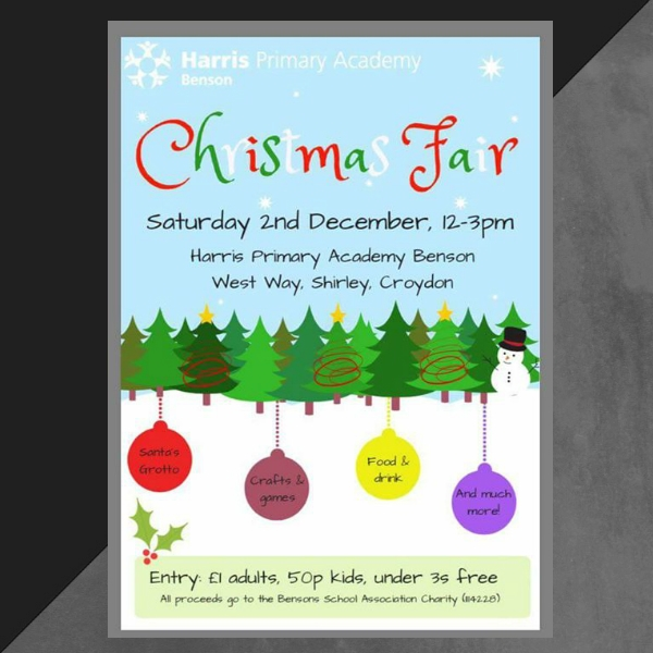 benson primary christmas fair invitation