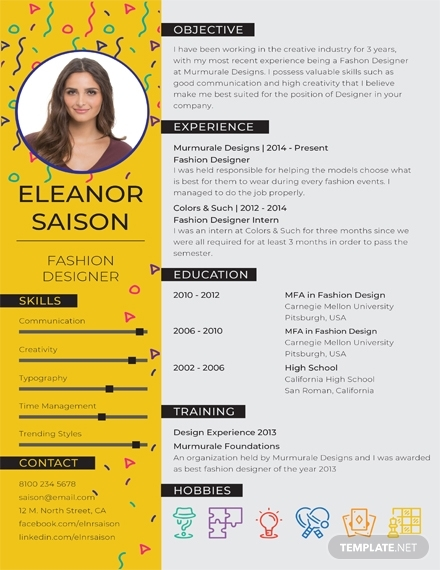 19 Resume Templates In Illustrator Examples