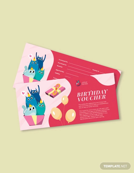 birthday gift voucher
